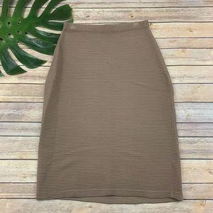 Lafayette 148 light brown stretch pencil skirt